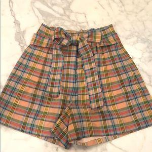 J Crew plaid shorts